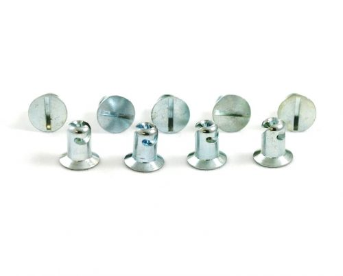 Quarter Turn Fastener Flat Head Buttons (10 pcs.)